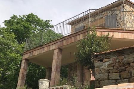 Création de rampe sur mesure pour une terrasse à St Clément de Rivière (34)