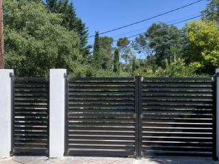 Conception d'un portail à ventaux acier ajouré - Ferronnier Art Monia (30)