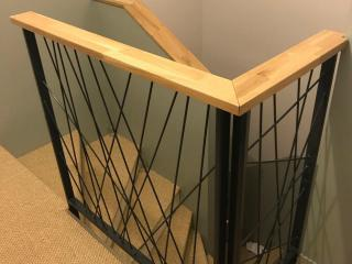 Garde corps et rampe en fer et bois modernes - Art Monia