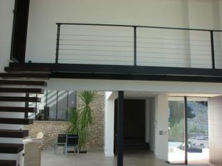 Pose et fabrication d'une rampe d'extérieur de maison dans le Gard (30)