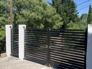 Ferronnerie création de portail et portillon acier battants à Caissargues (30) - Art Monia ferronnier Nîmes