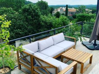 Fabrication de rampe et garde-corps métal et verre moderne terrasse à Montpellier - Art Monia