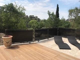 Rampe métallique contemporaine créée pour une maison de l'Hérault - Montpellier