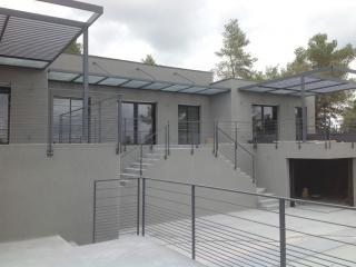 Fabrication de pergola contemporain à Saint Clément de Rivière (34)