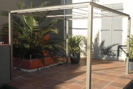 Fabrication d'un abri terrasse en fer à Manduel (30)
