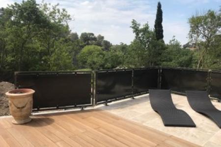 Fabrication de rampe brise vue métallique à Montpellier (34)