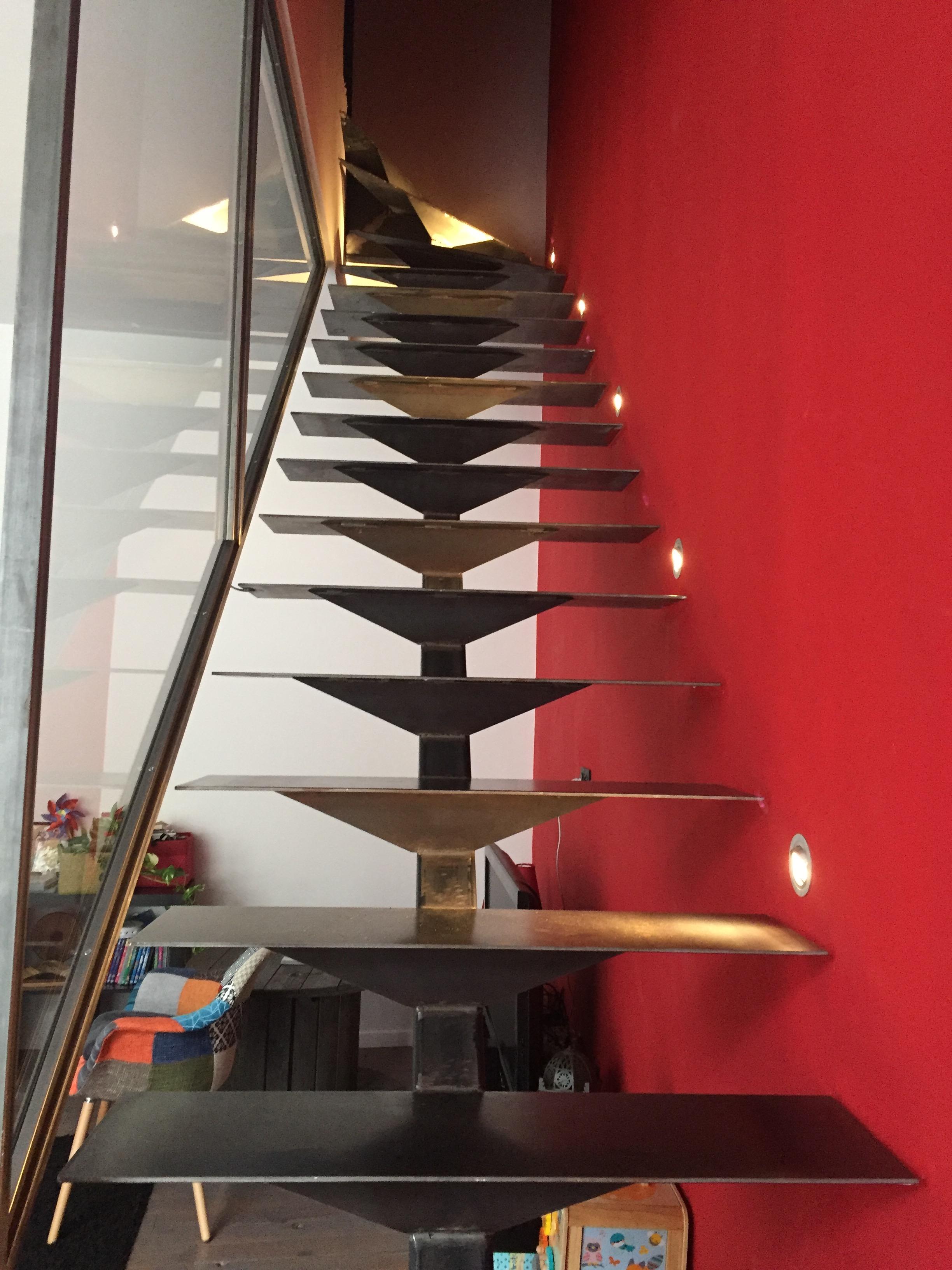 Escalier m tallique fer et verre dans le gard 30 - Escalier verre et metal ...